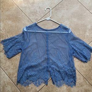 Lace button up blouse
